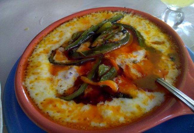 how to use a comal Kitchen Appliance HQ queso fundido in a clay comal