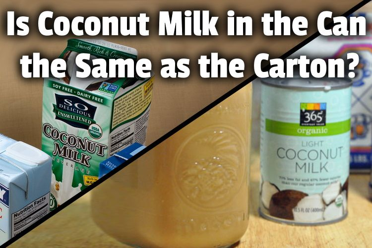 Is Coconut Milk In The Can The Same As The Carton